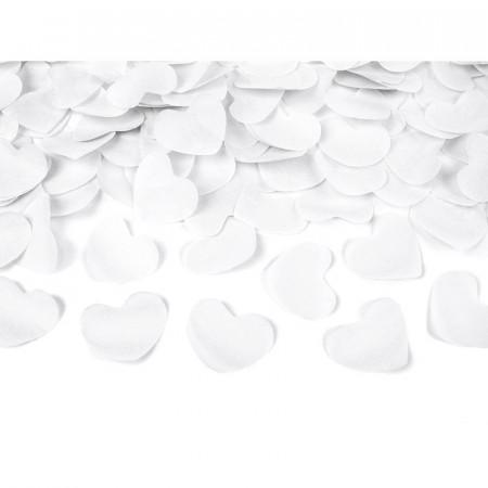 Canon à confettis cœurs blancs