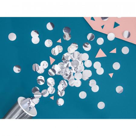 Confettis de table ronds argentés 2,5 cm