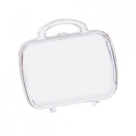 Contenant valise en plexi pour dragées mariage