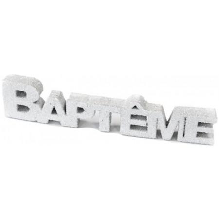 déco de table baptême blanc