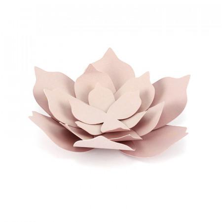 Décorations fleurs identiques rose poudré x 3