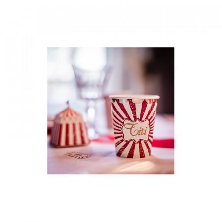 Gobelets en carton cirque