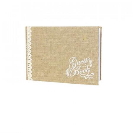 Guest Book lin et dentelle