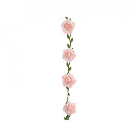 Guirlande de roses de couleur rose 120 cm