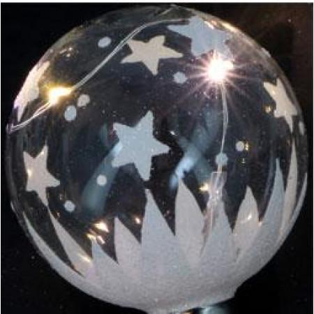 Guirlande 6 leds blanches forme boule en verre à prix discount