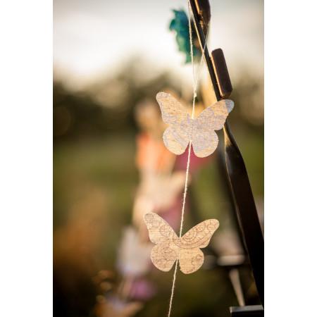 Guirlande papillons lin - 1.20m  1