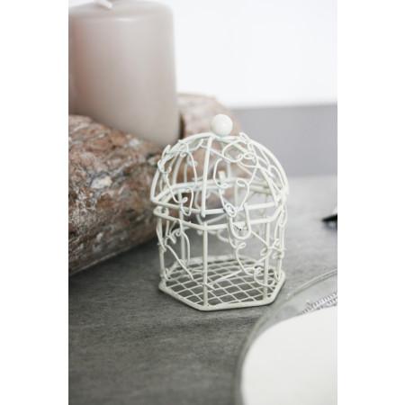 Cage en métal ivoire