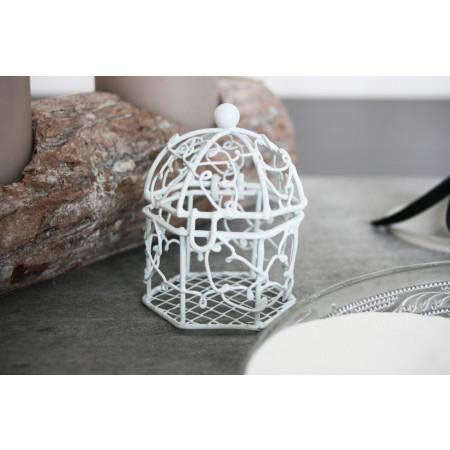 Cage en métal blanc