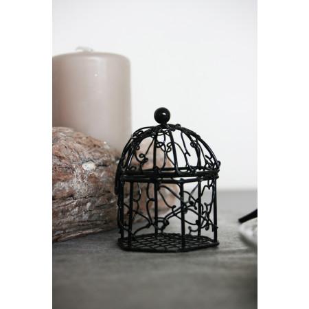 Cage en métal noir