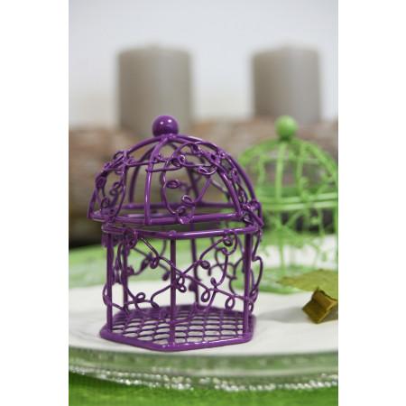 Cage en métal violet