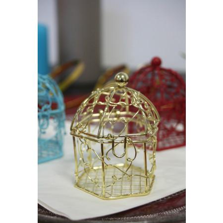 Cage en métal or
