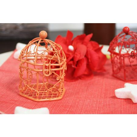 Cage en métal orange