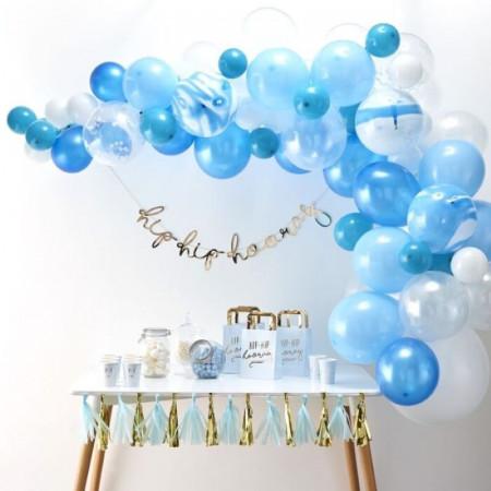 Guirlande ballons bleu