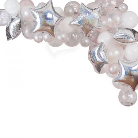 Kit arche à ballons blanche (x55)