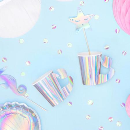 Gobelet en carton iridescent sirène