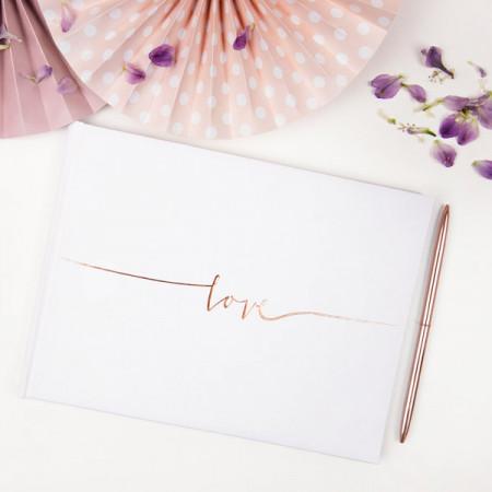 Livre d'or Love Rose Gold