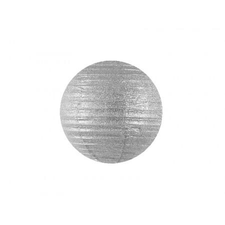 Lanterne pailletées argent - 20 cm