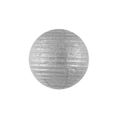 Lanterne pailletées argent - 25 cm