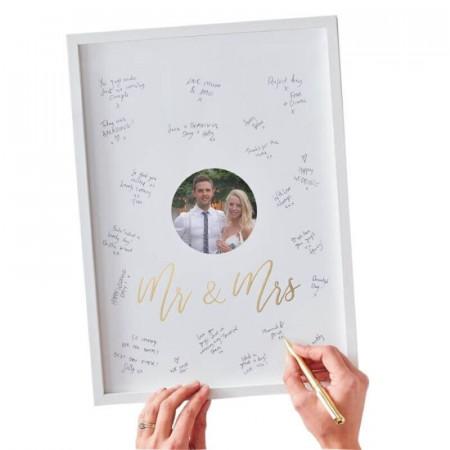 Livre d'Or cadre photo Mr et Mrs