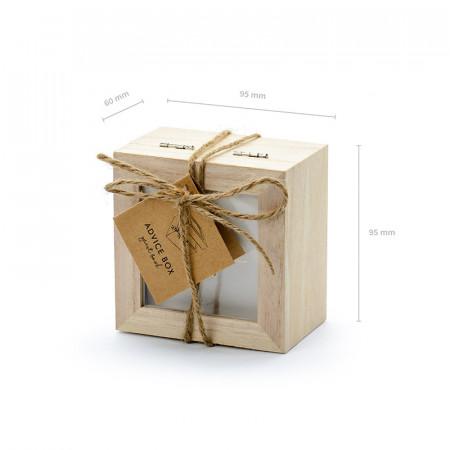 Livre d'or mariage boîte en bois