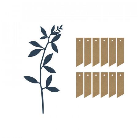 Marque place branche végétale x 6