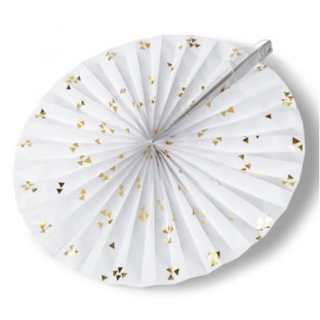 Rosace blanche avec triange or à prix discount