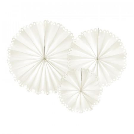 Rosaces blanc cassé effet dentelle x 3
