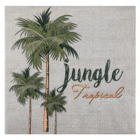 20 serviettes en papier Jungle Tropical à prix discount