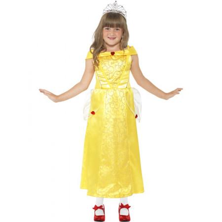Déguisement fille Princesse Beauté jaune