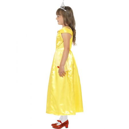 Déguisement fille Princesse Beauté jaune - 2