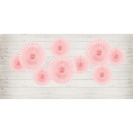 3 rosaces couleur rose clair