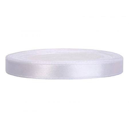 ruban satin 6 mm blanc