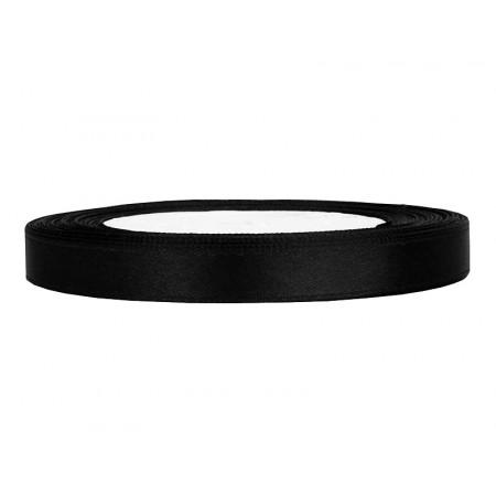 ruban satin 6 mm noir