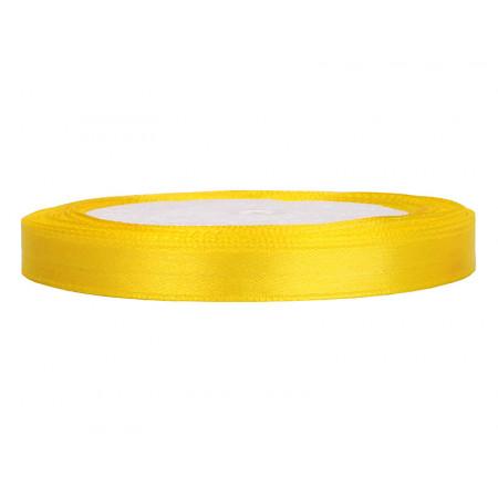 ruban satin 6 mm jaune