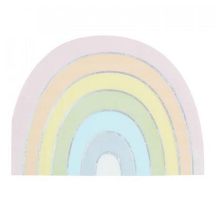 serviettes de table arc-en-ciel x16