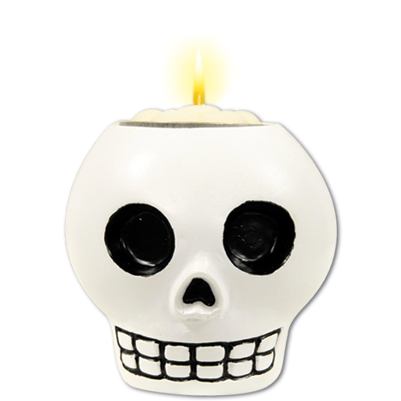 Bougie Dia de los Muertos crâne