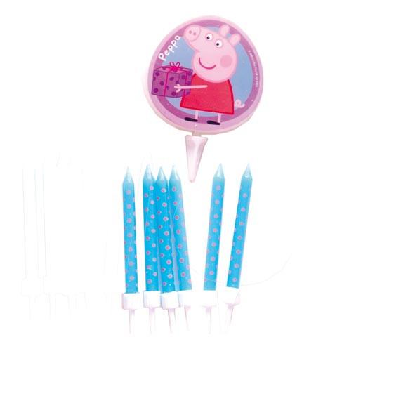 7 Bougies thème Peppa Pig