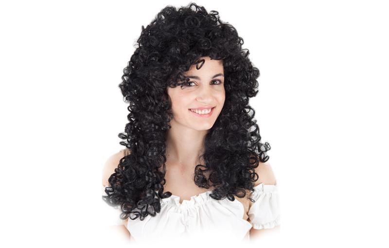 Perruque femme bouclée brune