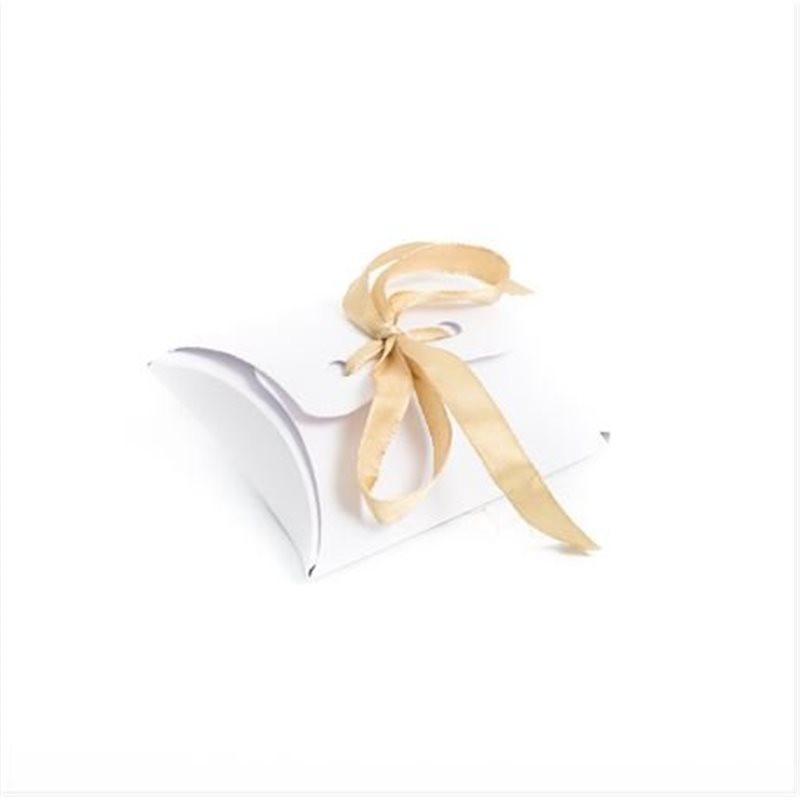 Ballotins dragées blanc ruban or