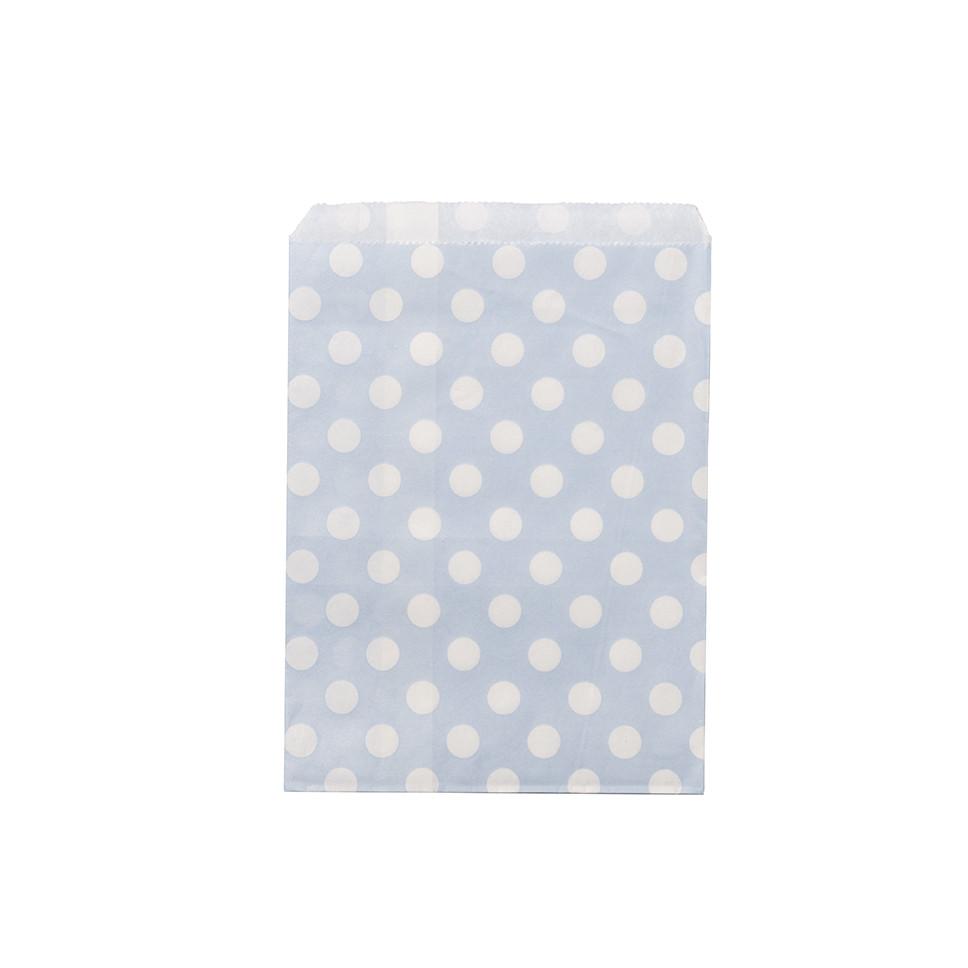 24 sachets papier ciel pois blancs