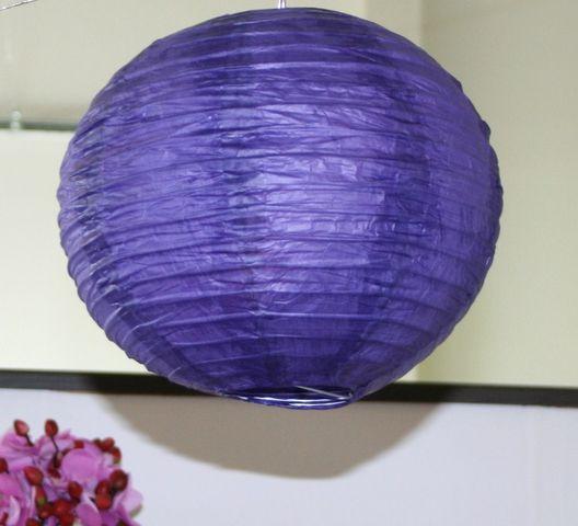 Lampion boule de déco - PM - aubergine