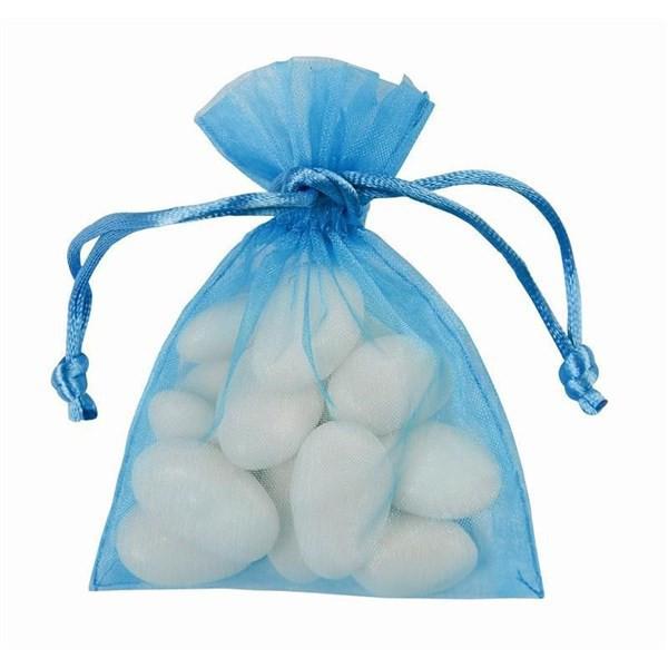 Sacs en organdi PM - bleu ciel 7 cm x 9 cm