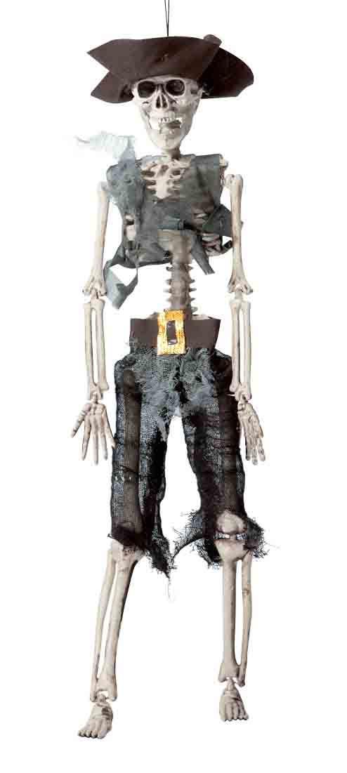 Décoration squelette pirate en plastique