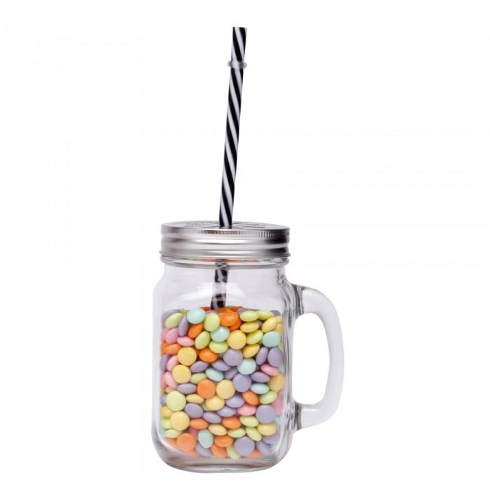 mug en verre avec paille. Black Bedroom Furniture Sets. Home Design Ideas