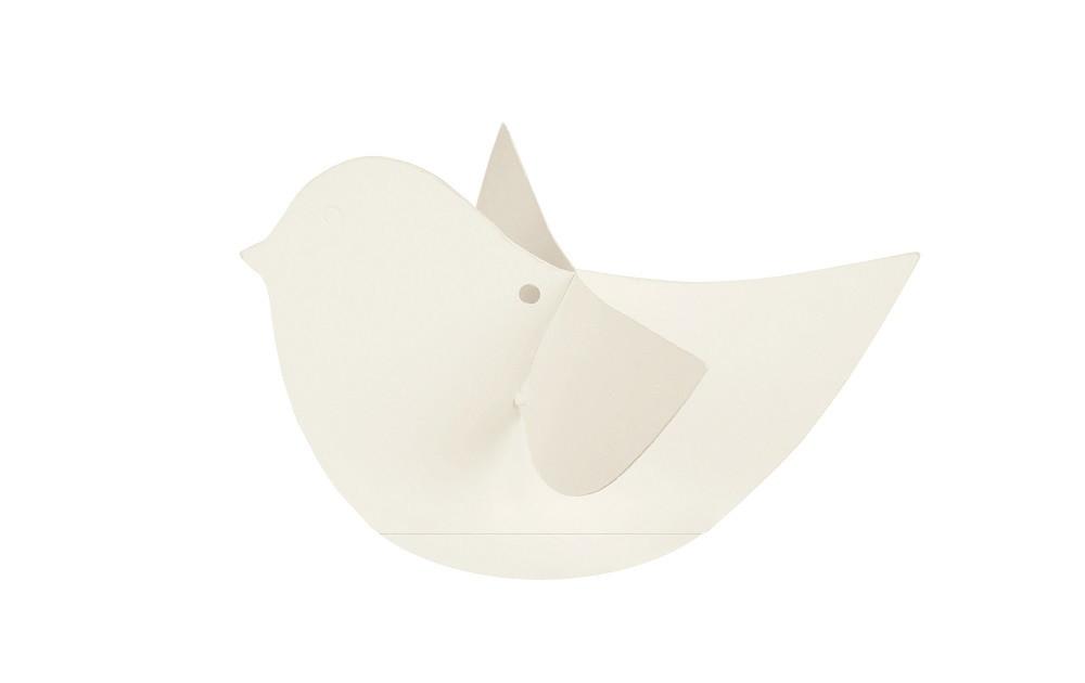 10 Oiseaux déco blancs grand modèle