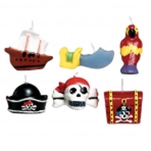 Assortiment de bougies - Pirates - x6