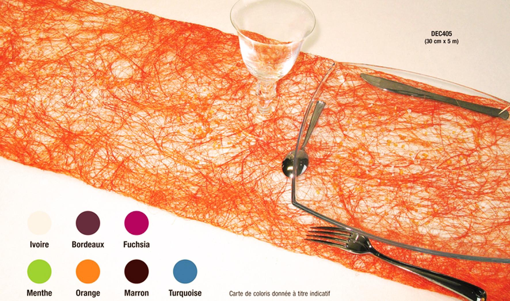 Chemin de table abaca de couleur - Chemin de table pour table ronde ...