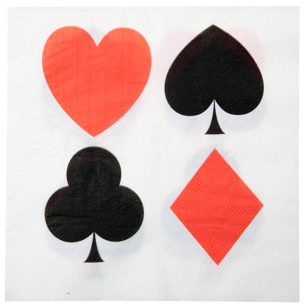 Serivette Papier Casino x 20