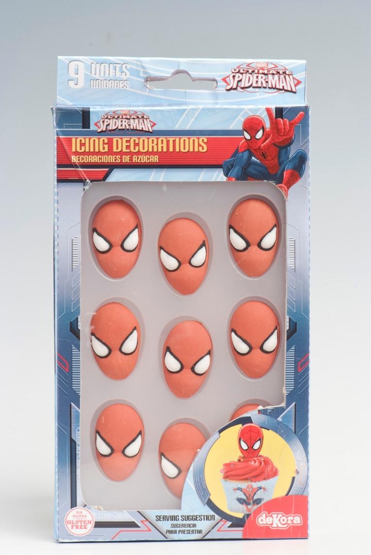 décor sucre spiderman
