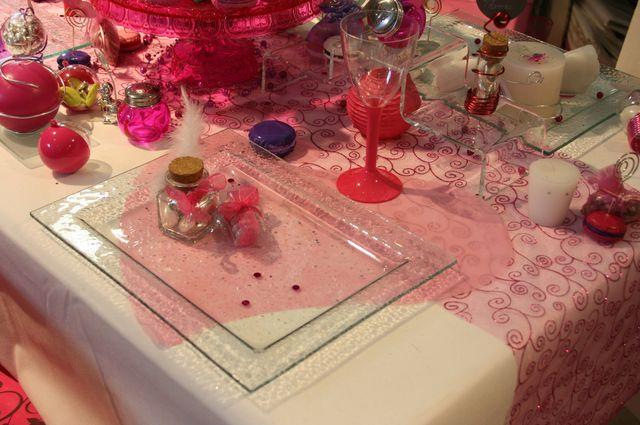 Set de table coeur rose x50 mariage bapteme anniversaire for Set de table rose